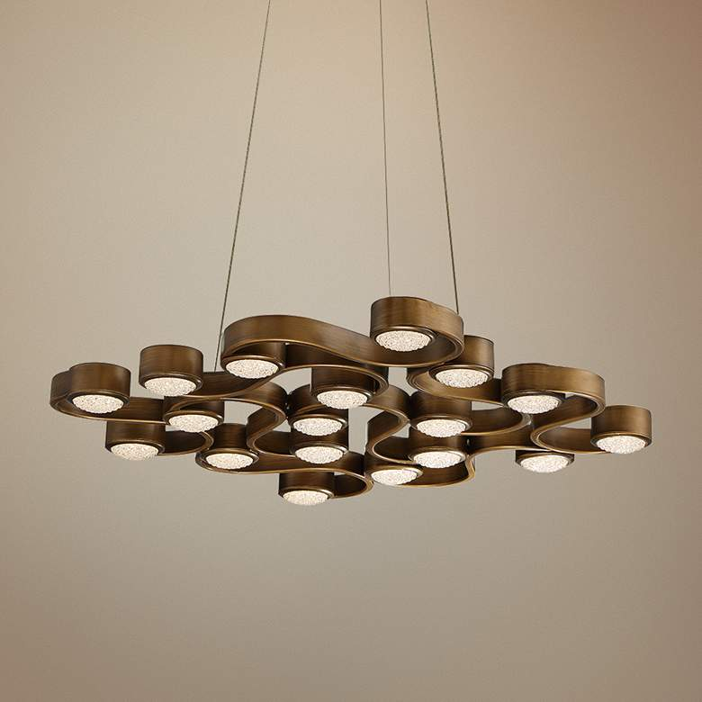 "Eurofase Pallazo 24"" Wide Bronze 18-LED Chandelier"