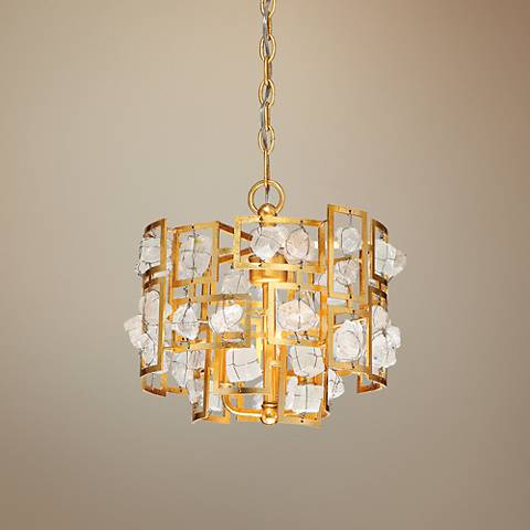 "Eurofase Elrose 13 1/4"" Wide Gold 3-Light Chandelier"