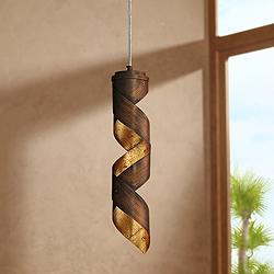 "Eurofase Banderia 3 1/2"" Wide Bronze LED Mini Pendant"