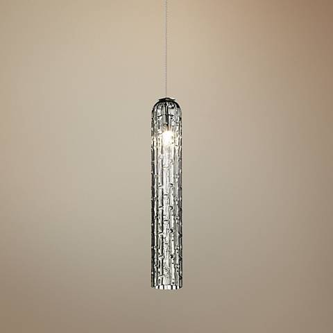 "Eurofase Loop 2 3/4""W Chrome and Smoke Glass Mini Pendant"