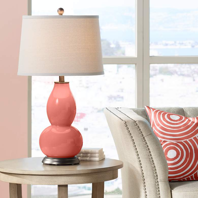 Coral Reef Double Gourd Table Lamp