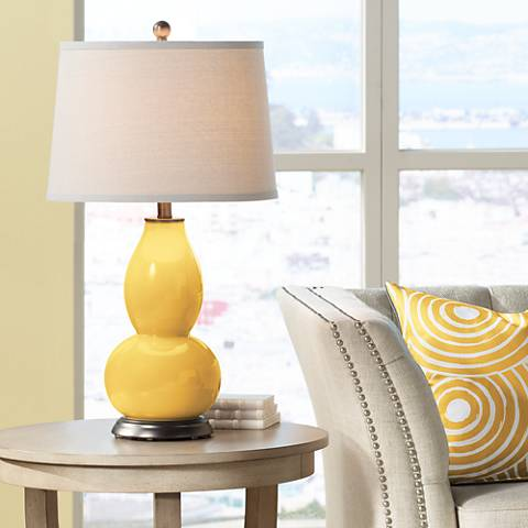 Goldenrod Double Gourd Table Lamp