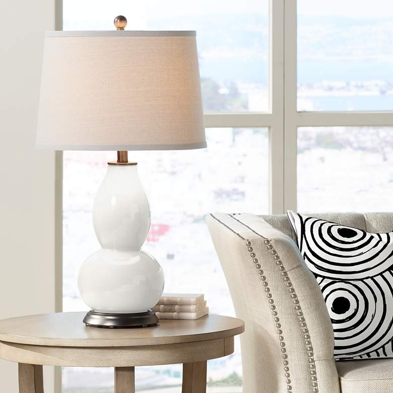 Winter White Double Gourd Table Lamp