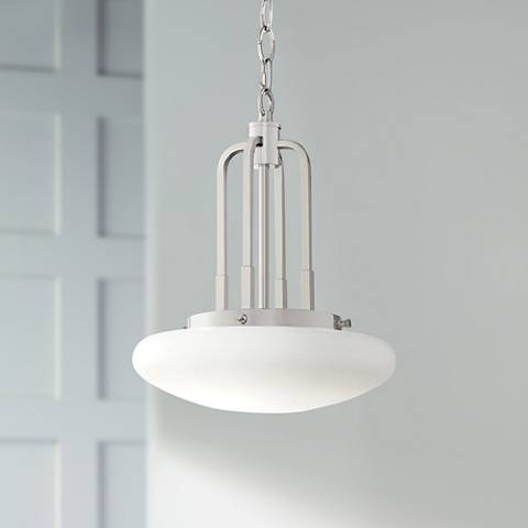 "Possini Euro Broadway 12"" Wide Chrome LED Mini Pendant"