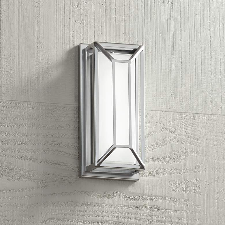 "Radcliffe 12"" High Matte Nickel LED Outdoor Wall Light"