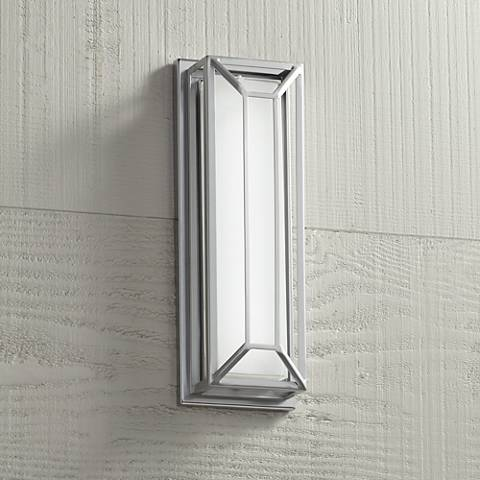 "Radcliffe 16"" High Matte Nickel LED Outdoor Wall Light"