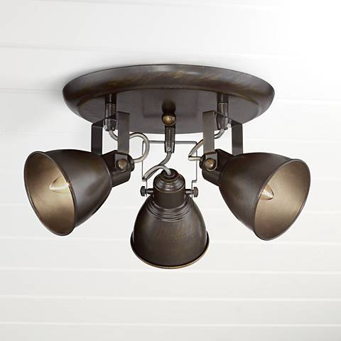 Pro Track® Abby 3-Light Bronze Ceiling Track Fixture