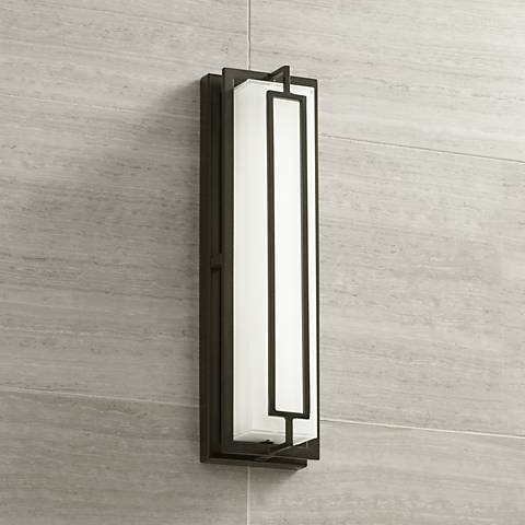 "Belfonte 16 1/4"" High Bronze LED Outdoor Wall Light"
