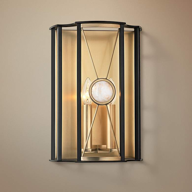 "Hudson Valley Cresson 14"" High Aged Brass Wall Sconce"