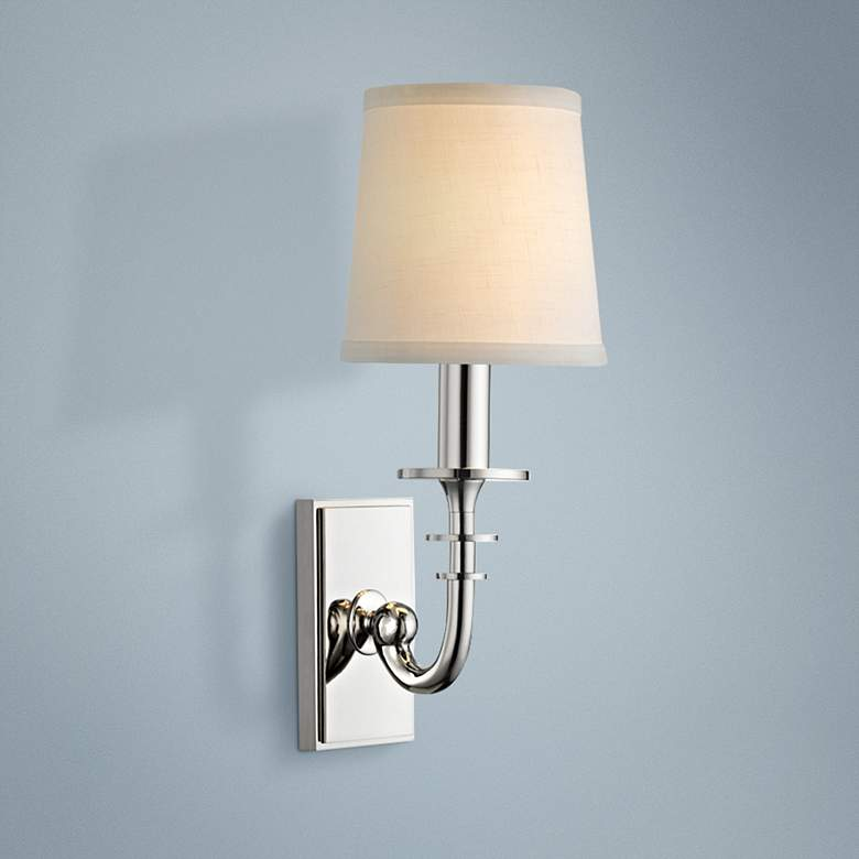 "Hudson Valley Carroll 13""H Polished Nickel Wall Sconce"