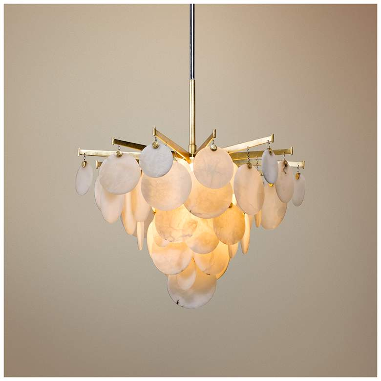 "Corbett Serenity 28"" Wide Gold Leaf LED Chandelier"