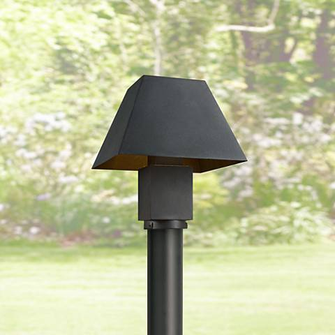 "Maxim Pavilion 10"" Wide Black LED Outdoor Post Light"