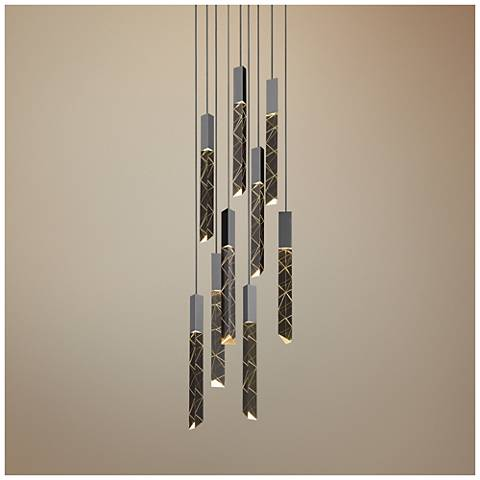 "Trinity 11 1/4"" Wide Polished Chrome LED Multi Light Pendant"