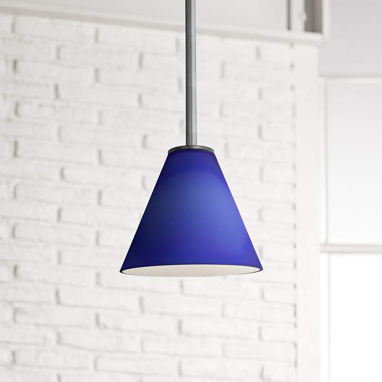 "Martini 7 1/4"" Wide Brushed Steel LED Mini Pendant"