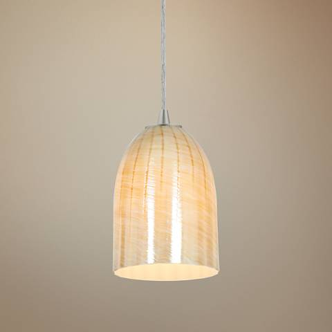 "Bordeaux 5 1/4"" Wide Brushed Steel LED Mini Pendant"