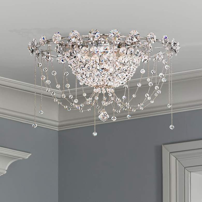 """Schonbek Chrysalita 4-Light 18 1/2""""W Steel Ceiling Light"""