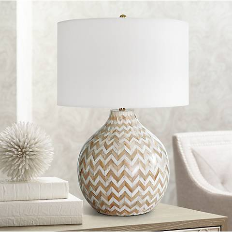 Regina Andrew Design Multicolor Bone Chevron Jug Table Lamp