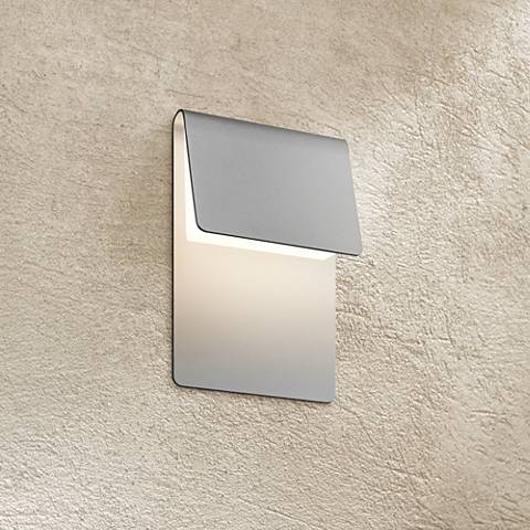 "Sonneman Ply 11""H Textured Gray LED Outdoor Wall Light"