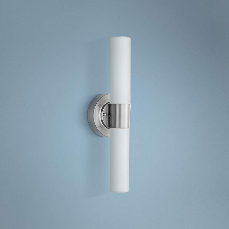 "ET2 Cilandro 19"" High Satin Nickel LED Wall"