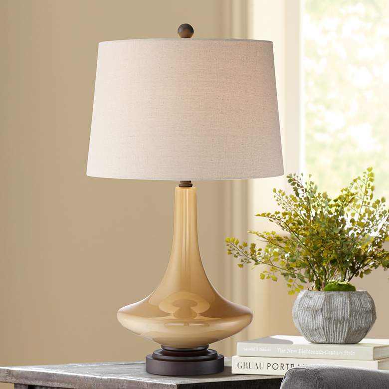 Leigh Mid-Century Modern Glass Table Lamp
