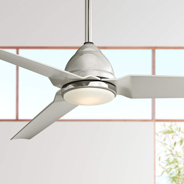 "54"" Minka Aire Java Polished Nickel LED Ceiling"