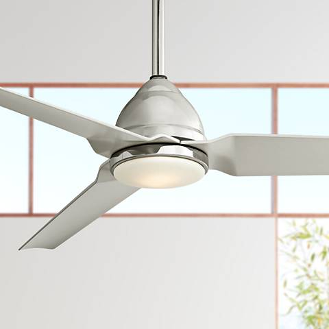 "54"" Minka Aire Java Polished Nickel LED Ceiling Fan"