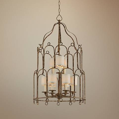 "Carousel 25"" Wide Provence Bronze Pendant Light"