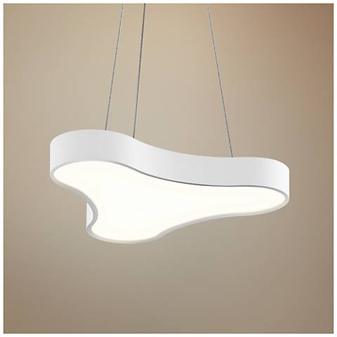 "Corso 20"" Wide Textured White LED Pendant Light"