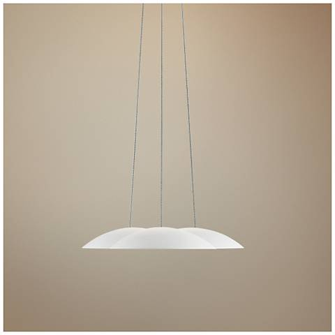 "Little Cloud™ 7 3/4""W Textured White LED Mini Pendant"