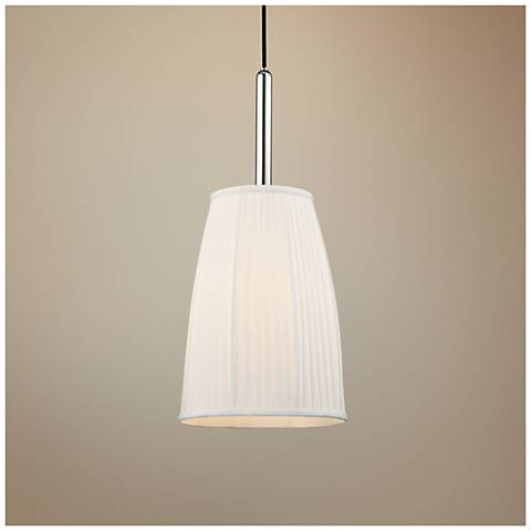 "Malden 9 3/4"" Wide Polished Nickel Mini Pendant"