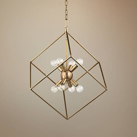 "Hudson Valley Roundout 23"" Wide Aged Brass Pendant Light"
