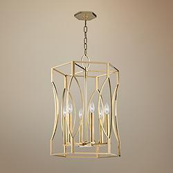 "Hudson Valley Roswell 17 1/2"" Wide Aged Brass Pendant Light"