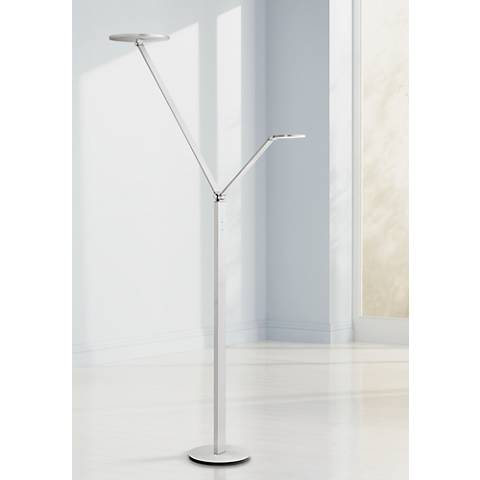 Possini Euro Magnum Aluminum LED Torchiere Floor Lamp