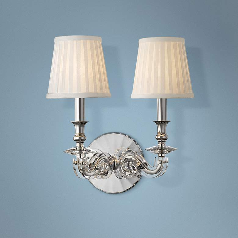 "Lapeer 14"" High Polished Nickel 2-Light Wall Sconce"