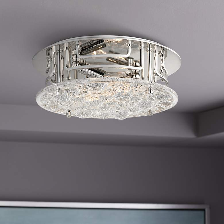 "Hudson Valley Holland 11 1/4""W Polished Nickel Ceiling"