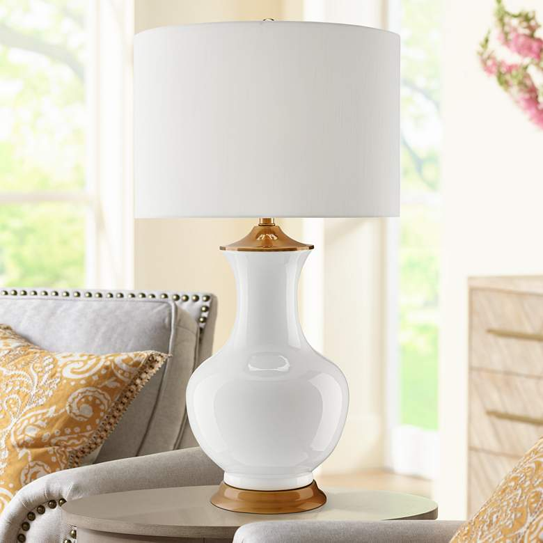 Currey and Company Lilou White Ceramic Table Lamp