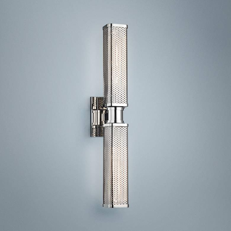"Hudson Valley Gibbs 22 1/4""H Polished Nickel Wall"