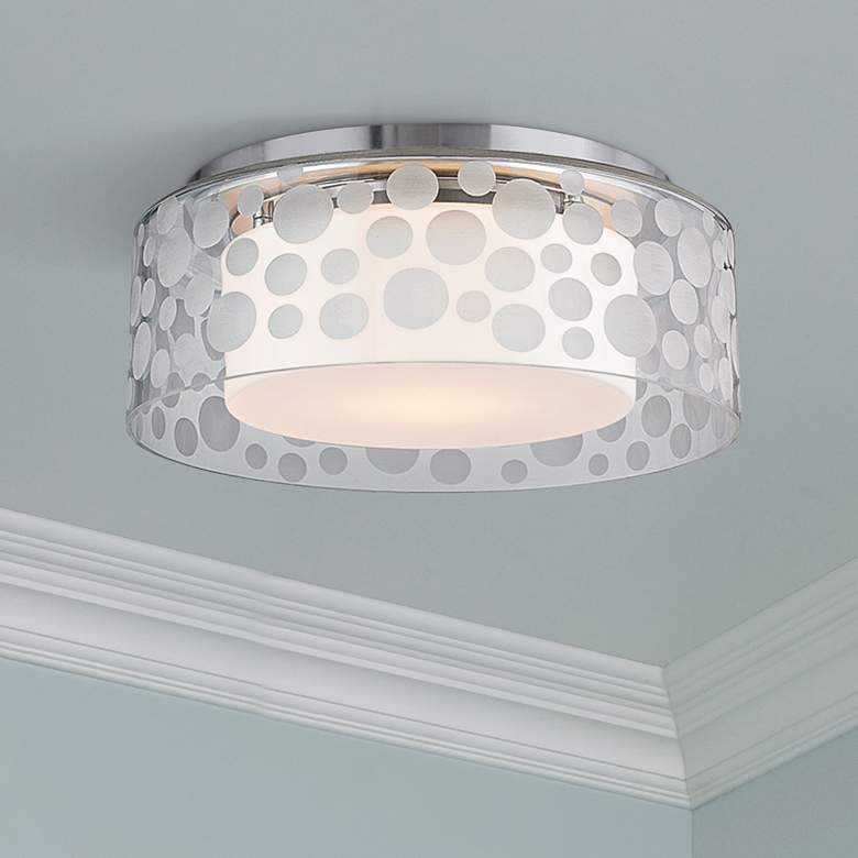 "Hudson Valley Carter 11""W Satin Aluminum LED Ceiling"