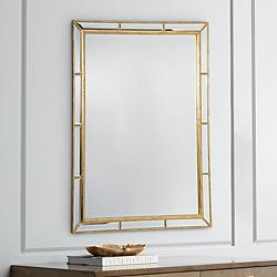 "Regina Andrew Plaza Gold Leaf 29"" x 41"" Wall Mirror"