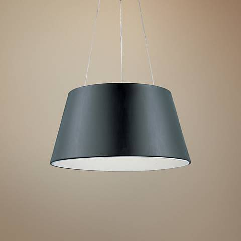 "ET2 Quantum 24"" Wide Black LED Pendant Light"