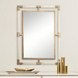 "Uttermost Balkan Gold 28"" x 37 3/4"" Wall Mirror"