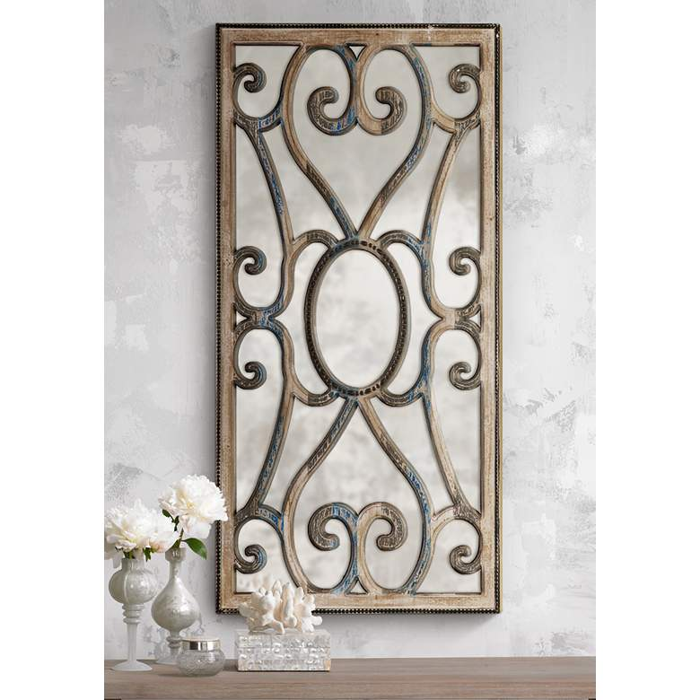 Uttermost Rosalind Taupe Wood 24 X 48 Wall Mirror