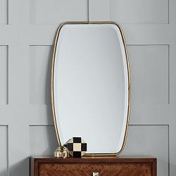 "Uttermost Canillo Gold 21"" x 36"" Floating Wall Mirror"