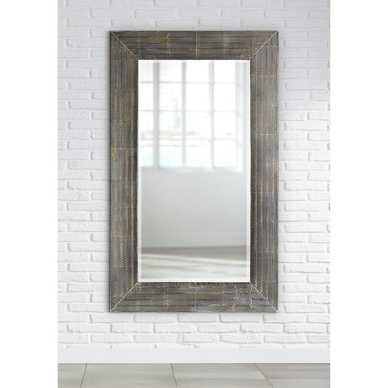 "Frazer Stone Wash 36 x 58"" Full Length Steel Wall Mirror"