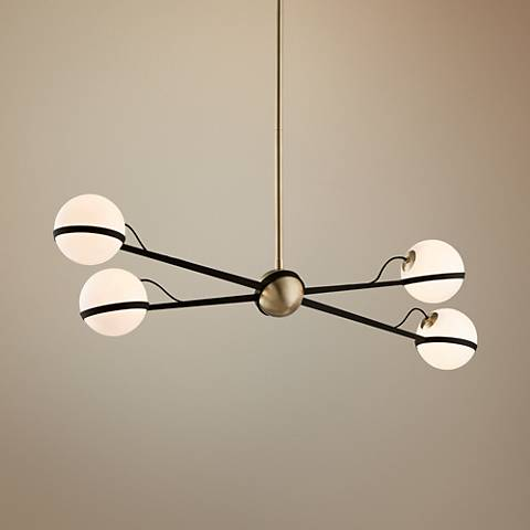 "Ace 49 1/2"" W Bronze and Brushed Brass Pendant Light"