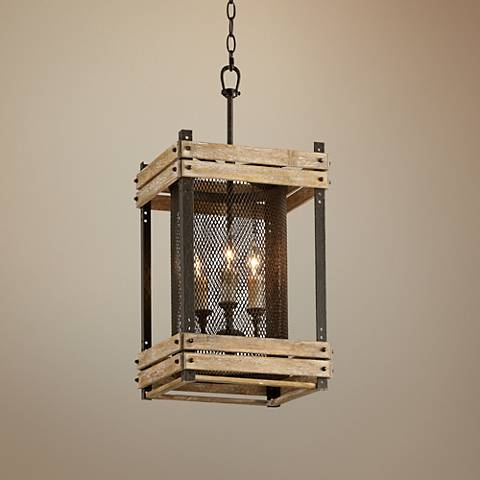 "Merchant Street 12"" Wide Rusty Iron Pendant Light"