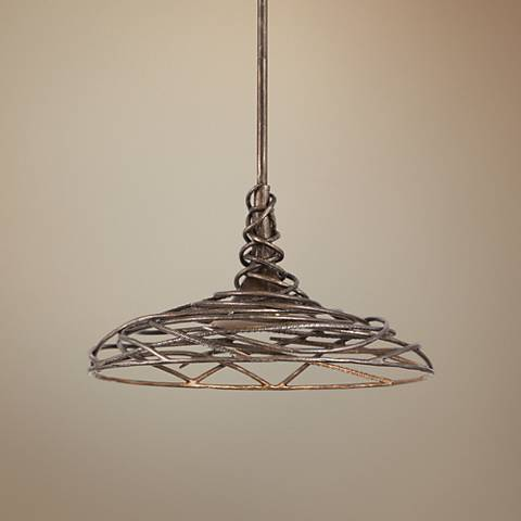 "Sanctuary 16"" Wide Cottage Bronze LED Pendant Light"