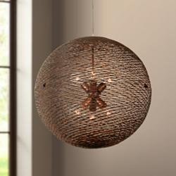 "Varaluz Flow 24"" Wide Hammered Ore Pendant Light"