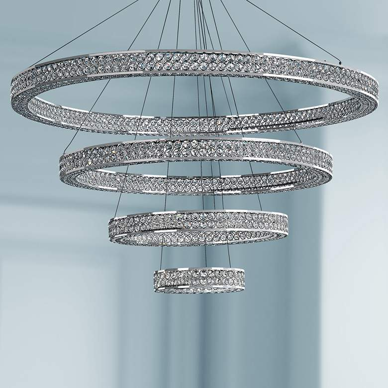 "Maxim Eternity 39 3/4"" Wide Chrome LED Pendant"