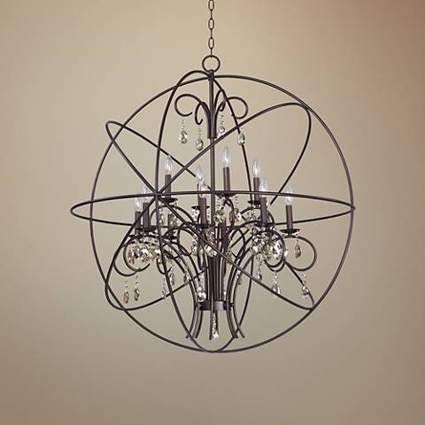 "Maxim Orbit 40"" Wide Oil-Rubbed Bronze Orb Chandelier"